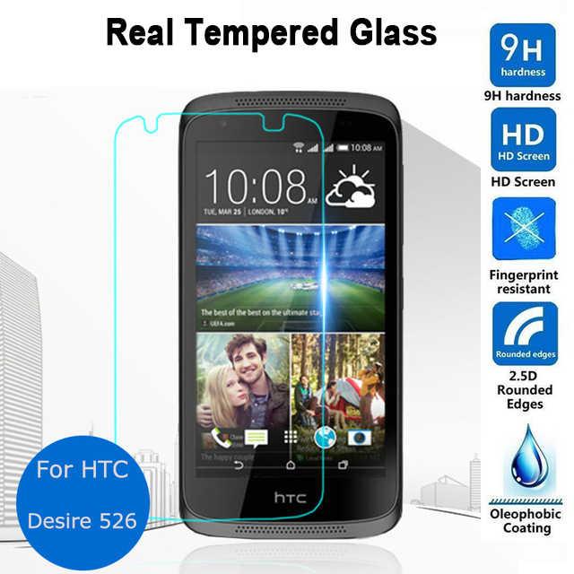 Para Htc deseo 526 4G vidrio templado LTE película 0,26mm 2,5 9h HD claro de seguridad Protector de pantalla en 526G + Dual Sim D526h