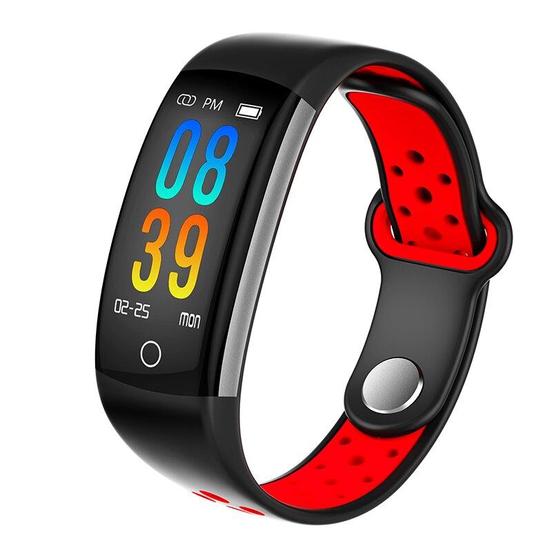 Montre connectée homme femme Sport Smartband Sang Pression Étanche De Natation bracelet sport Bande montre connectée avec écran tactile pour Android iOS
