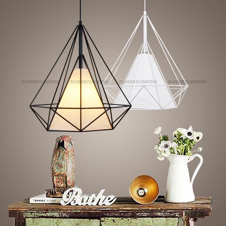 vogelkooi hanglamp modern diamond art piramide iron scandinavische
