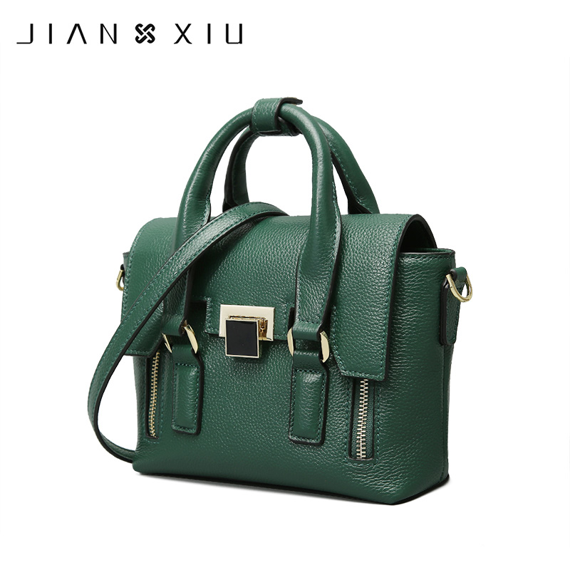 JIANXIU Brand Fashion Genuine Leather Bags Sac a Main Handbags Bolsos Mujer Bolsas Feminina Solid Color Shoulder Crossbody Bag