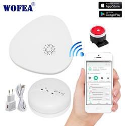 Wofea умная wifi система охранной сигнализации wifi-шлюз дымовая сигнализация с видео camare СИСТЕМА ПРИЛОЖЕНИЕ управление SMS и уведомления о