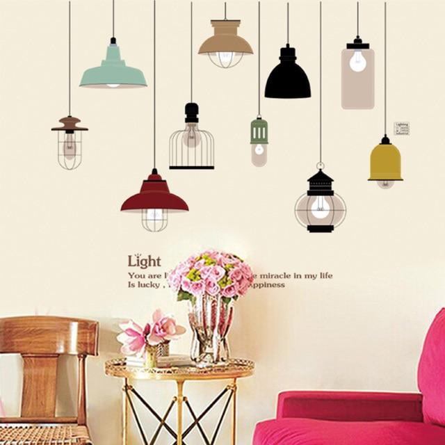 aliexpress: acheter rétro lampe suspendue mur autocollant