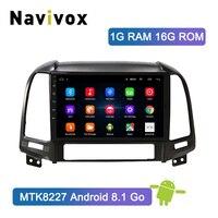 Navivox Android 8,1 2 din автомобильный dvd мультимедийный плеер для hyundai Santa Fe 2005 2012 gps навигация автомобильное радио магнитофон