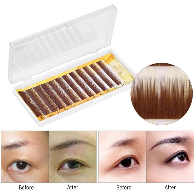 Professional Mixed Brown Black False Eyebrow Extension Fake Eyebrow