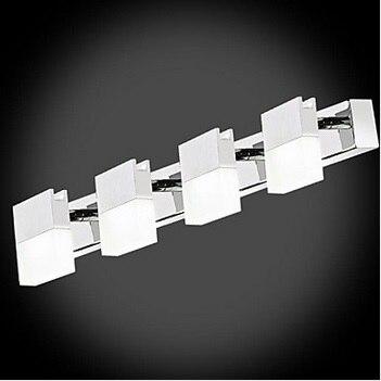 4 огни художественный нержавеющей современные светодиодные Ванная комната зеркало свет, светодиодный настенный светильник для Ванная комн