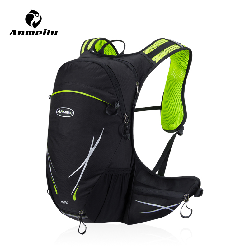 Anmeilu Bicycle Bike Bag 18L Nylon Outdoor Sport Road Mountain Bike Bag Large Capacity Hiking Climbing Cycling Backpack anmeilu 18l cycling backpack waterproof sport bag mtb cycling hydration water bags outdoor climbing hiking rucksack bicycle bag