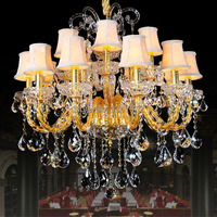 Luxury crystal ceiling lamp/pendant light/K9 crystal with lights for living room