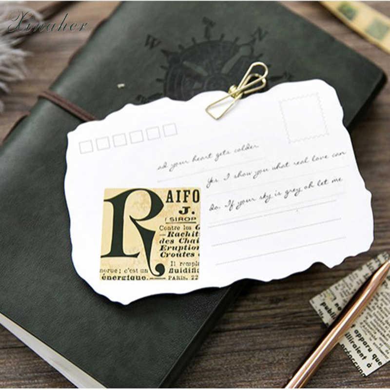 XINAHER 45 adet/kutu Vintage Eski Gazete kağıt etiket dekorasyon çıkartmaları DIY için zanaat günlüğü scrapbooking planlayıcısı etiket sticker