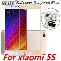 Полное покрытие закаленное Стекло для xiaomi 5S M5S MI5S Экран чехол Защитный чехол для смартфона 9 H на закаленное черный кадр дисплея