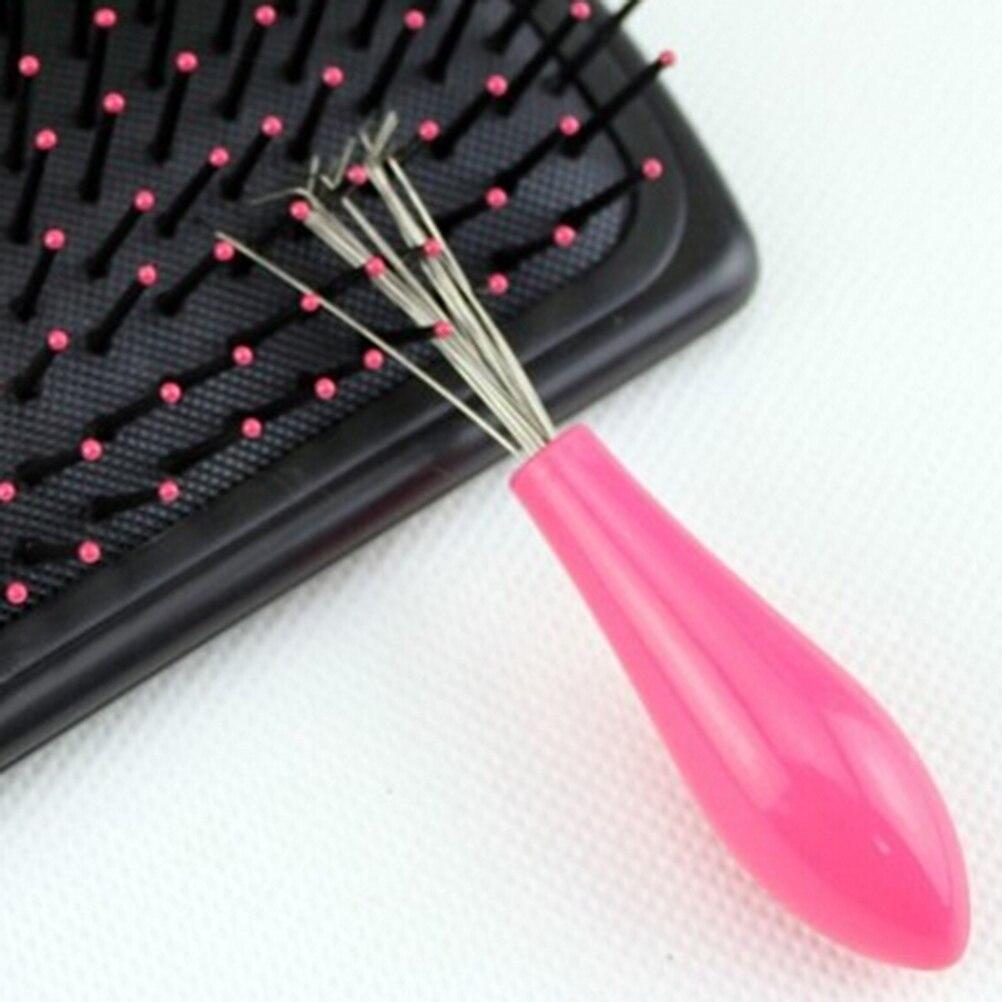 mini pettine spazzola per capelli salon casa essenziale durevole cleaner strumento embeded colore a caso 1