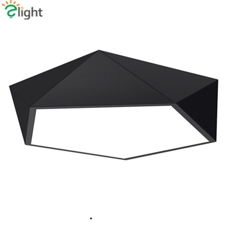 ФОТО Post-Modern Irregular Geometric Shape Led Ceiling Light Simple Acrylic Metal Bedroom Led Ceiling Lamp Novelty Foyer Led Lighting