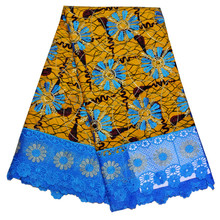 SMT!Ankara Wax Lace Fabric For Women Dress Guipure Embroidered India Prints Wax Lace African Cotton Fabric Wedding Lace ! L52386