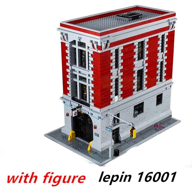 Lepin 16001 legoing Ghostbusters 75827  Firehouse Headquarters Model Building Kits Model set Compatible legoing 75827 2017 new lepin 16001 4705pcs ghostbusters firehouse headquarters model educational building kits model set brinquedos 75827