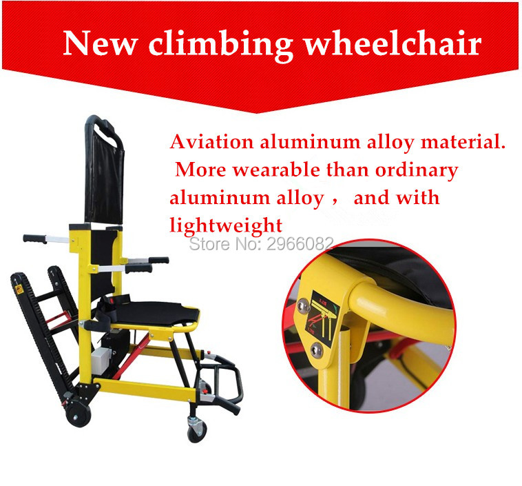 Free shipping 2019 Folding power climing stairs font b wheelchair b font up and down for