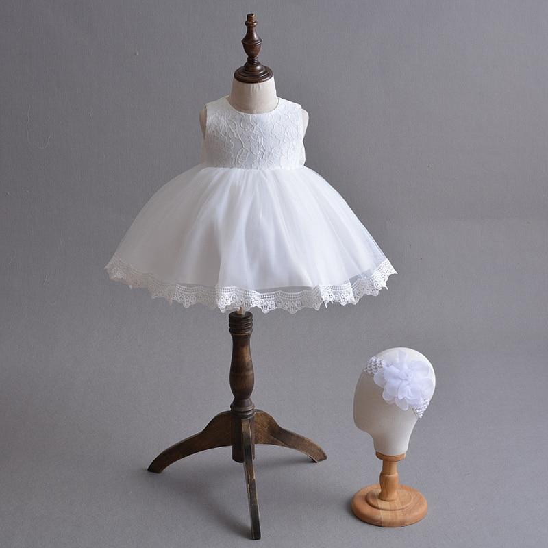 Robe de demoiselle d'honneur bébé blanc fête de mariage fille de fleur robes 1 an fille Tulle robe ensemble avec boléro hiver A015 Vestidos