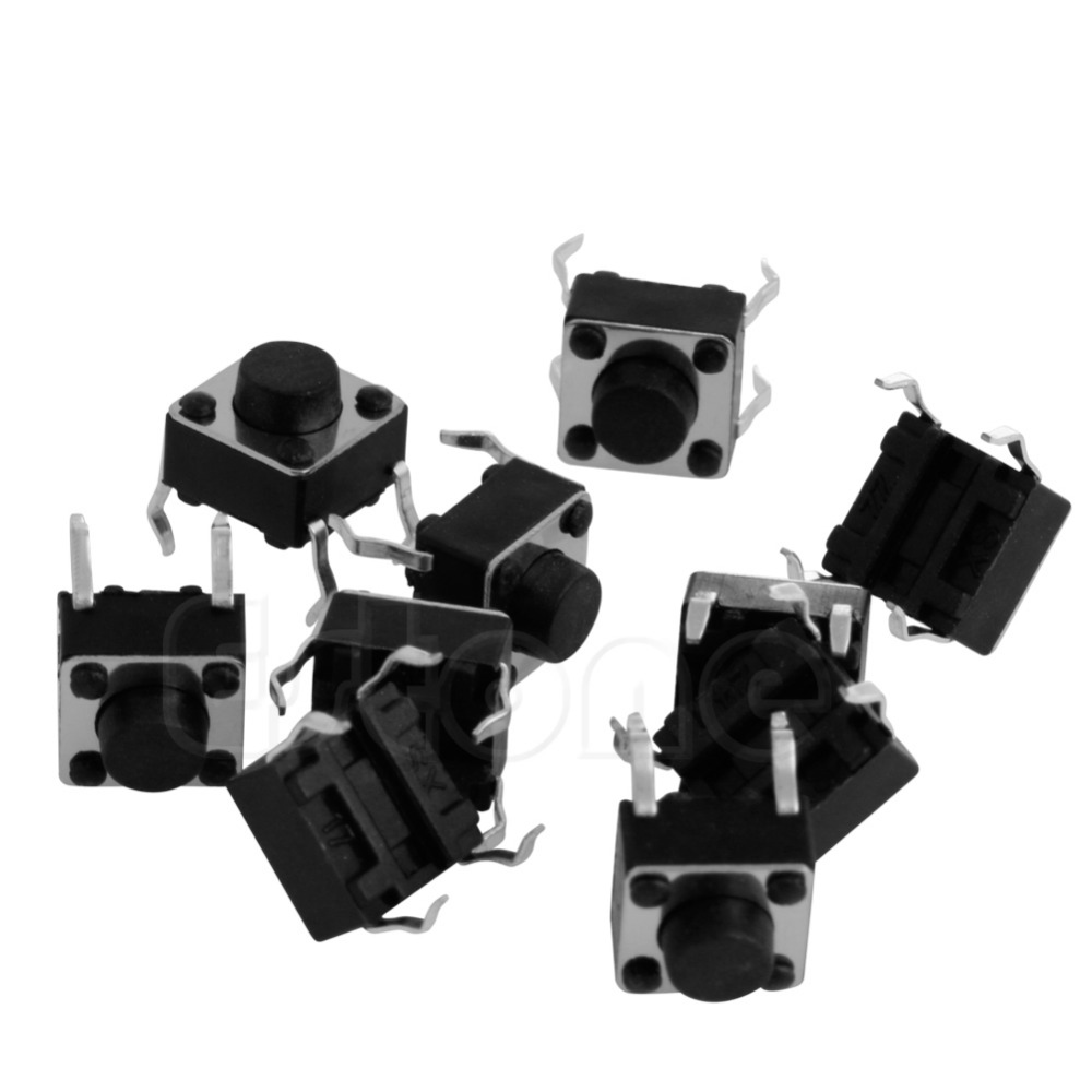 10pcs Tactile Push Button Switch Tact Switch for Arduino 4P DIP 6X6X5mm L15 50pcs lot 6x6x7mm 4pin g92 tactile tact push button micro switch direct self reset dip top copper free shipping russia