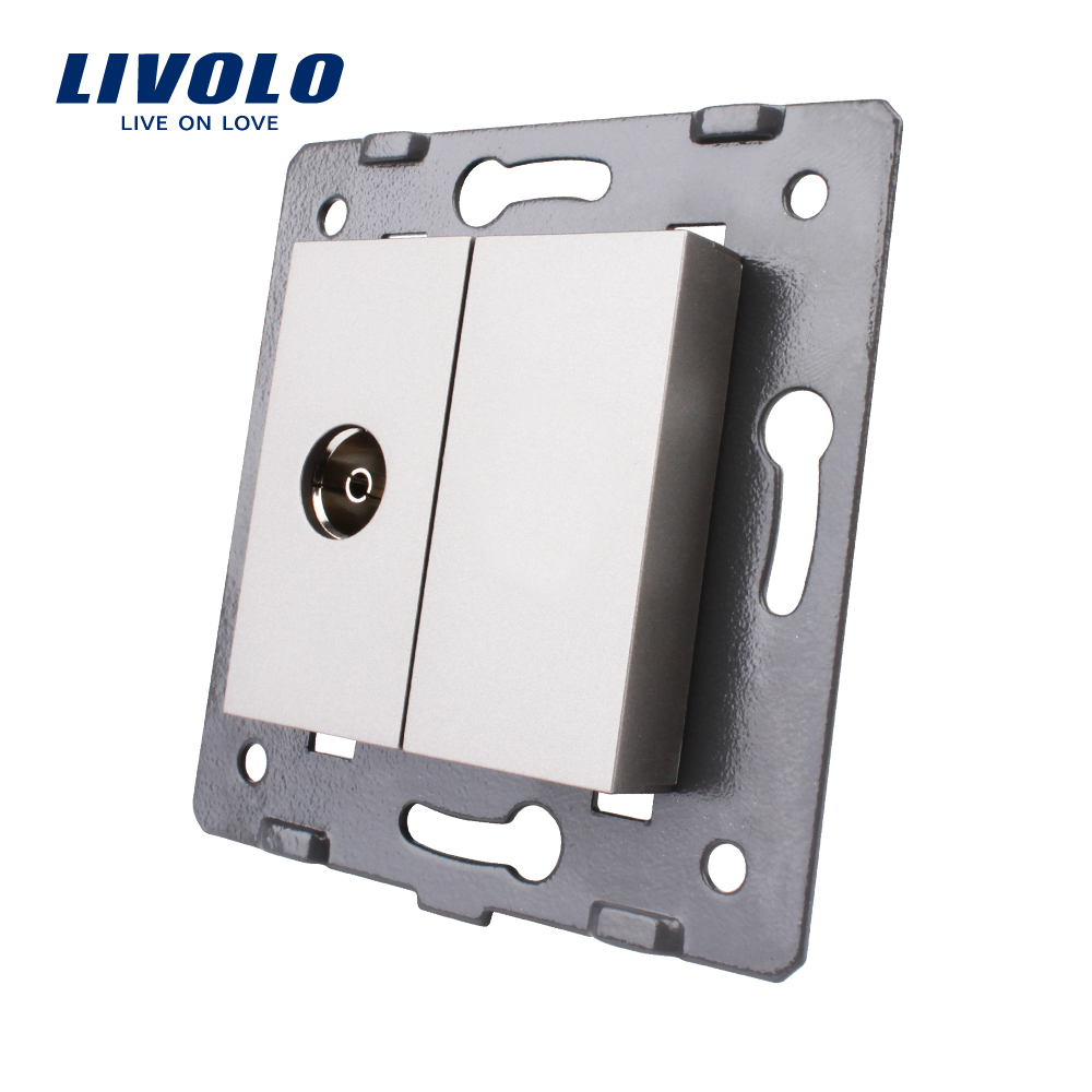 Free Shipping, Livolo EU  Standard  DIY Parts, Module For TV Socket 4 Color