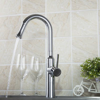 Kitchen Faucets Torneira 2015 New Brand Chrome Swivel 360 Single Handle 97054 Deck Mounted Basin Sink
