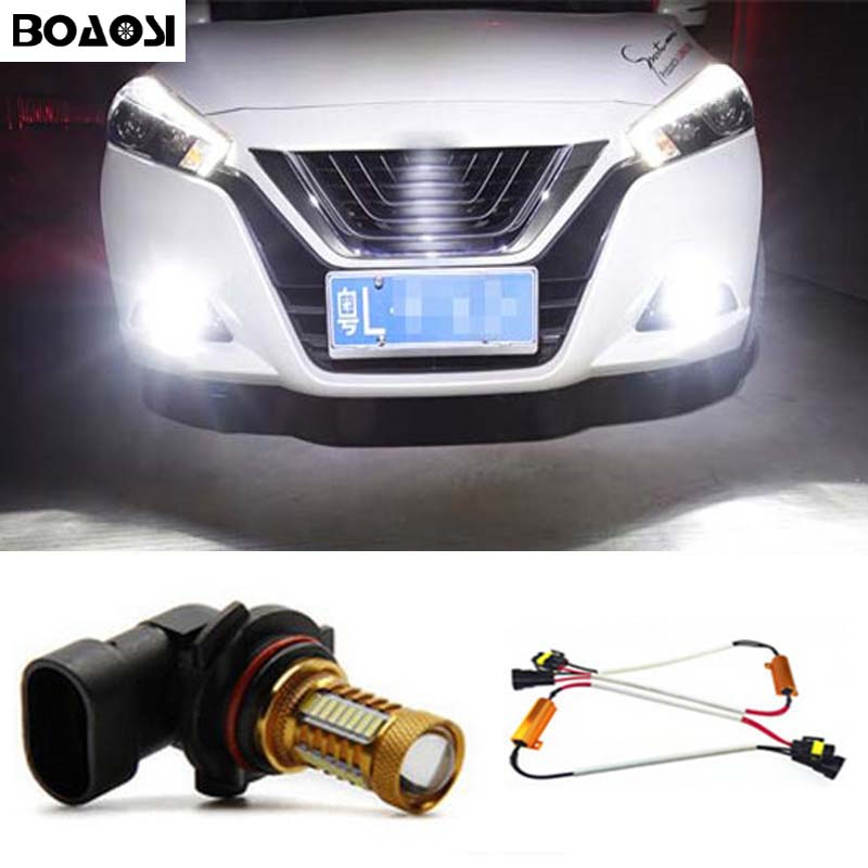 BOAOSI 1x 9006/HB4 4014 32smd LED canbus Fog Lights No Error For Lexus IS 200,250,300 2007+ boaosi 2x h8 h11 led canbus bulbs reflector mirror design for fog lights for bmw e39 325 328 m mini sport