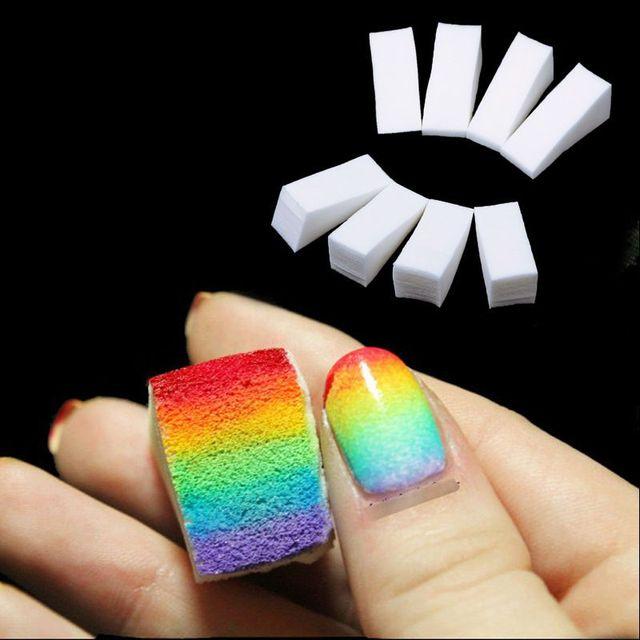 Belen 8pcs Gradient Nails Soft Color Fade Sponges Manicure DIY ...