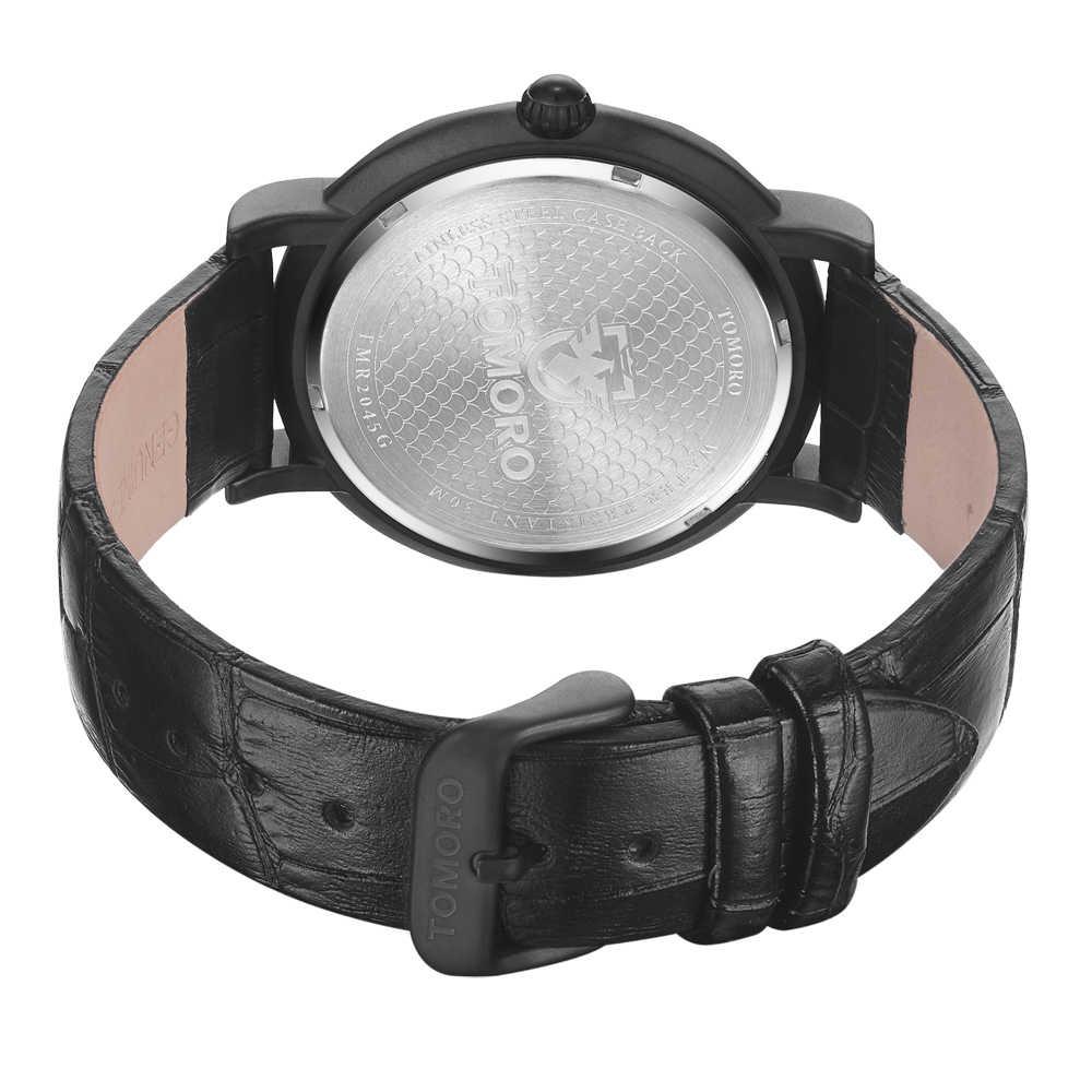Tomoroファッションクォーツ時計男性腕時計トップブランドの高級有名な男性時計腕時計用男性hodinky relogレロジオmasculino