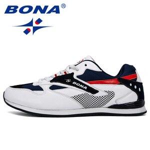 Image 4 - BONA 2019 yeni tasarımcı erkek Sneakers hafif nefes Zapatillas rahat ayakkabılar erkek spor ayakkabı açık Zapatos Hombre