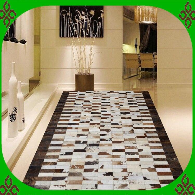 Fashionable art carpet 100% natural genuine cowhide leather gym matsFashionable art carpet 100% natural genuine cowhide leather gym mats