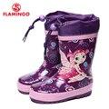 Flamingo marca 2017 nueva colección primavera-otoño moda botas de goma con lana de calidad antideslizante zapatos de los niños para las niñas 71-hl-0007