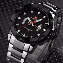 NAVIFORCE Marca Completa de Acero de Lujo de Los Hombres Del Ejército Militar Hombres de Los Relojes del Reloj de Cuarzo Horas Reloj de Pulsera Deportivo Reloj del relogio masculino