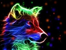 5D DIY Diamond Painting Animals Wolf Head Full Square  Embroidery Mosaic Rhinestones Paintings Handwork