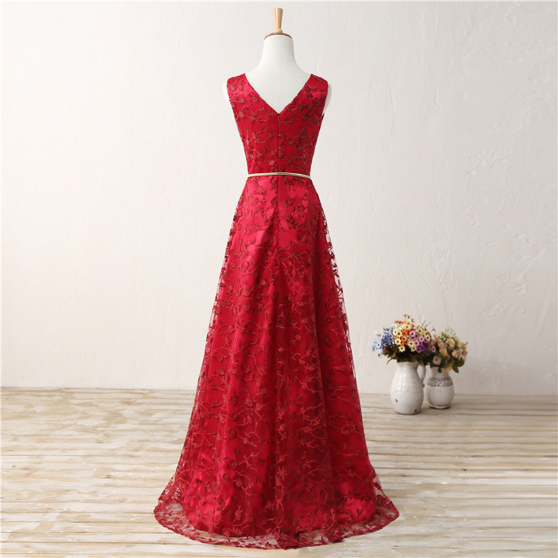 2018 Backlackgirl New Arrival Elegance Beautiful Simple Red Prom ...