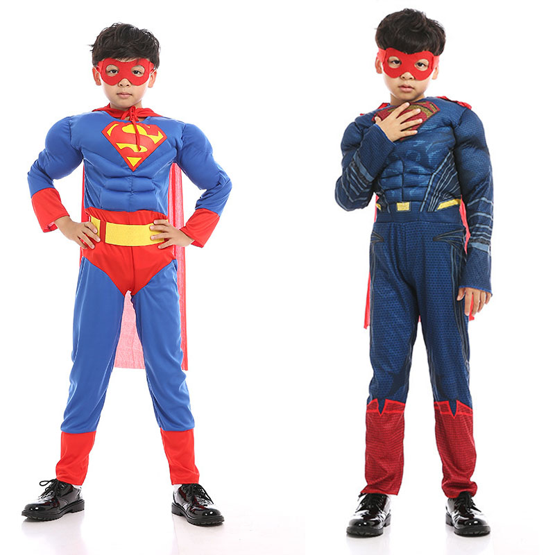 Purim Kids cartoon reality boy muscle SuperHero Costume Movie Child Spiderman Disfraces Carnaval Karneval Costume for Halloween