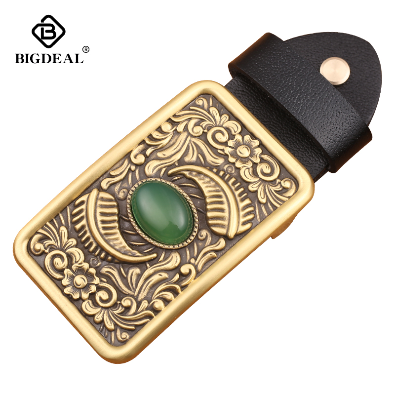 Wholesale High Quality Nephrite Belt Buckle Men And Woman Fashion Jeans Accessories Belt Head Gift Fit 4cm Width Belt