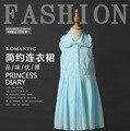 Catimini летнее платье 2016 новый девочка печати девушек, платья хлопка марка лето сарафан З. Ы.