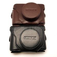Бесплатная доставка Кожа Камера Сумка Обложка Для Fujifilm Fuji Finepix X10 X20 черный кофе цвет выбрать