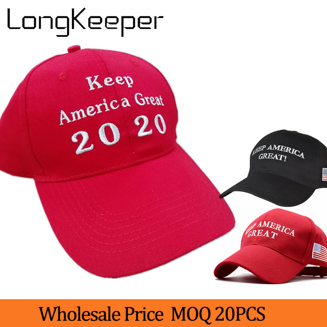 ead748484fa2c 20pcs lot KEEP AMERICA GREAT 2020 Donald Trump Hat Re-Election New Cap  Embroidery