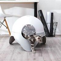 Саим закрытый ящик для мусора кошачий Туалет животное кошачьих туалетов дезодорации большой Размеры толще Давление Материал анти всплеск