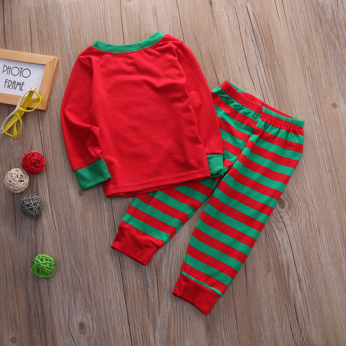 91c76fdebd 2Pcs Baby Kids Christmas Pjs Clothing Set Baby Boys Girls Xmas T Shirt Tops  + Pants Kids Toddler Clothes Outfit-in Clothing Sets from Mother   Kids on  ...