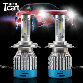 Tcart 2pcs 527D accessories Auto Headlamp Fog Light Bulb H4 h13 9004 9007 Car LED Headlight Bulbs for Audi Q5 Q7 A3 8P TT MK2