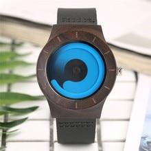 Casual Men Women Wooden Watch Novel Vortex Non-pointer Sport Bamboo Wristwatch G