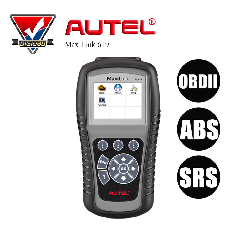 AUTEL MaxiLink ML619 Professional Auto OBD2 Code Reader Scanner Car Diagnostic Scan Tool with OBD 2 Full Functions ABS/SRS Scan brand new autel maxiscan ms300 canbus obd2 obdii diagnostic tool code reader car auto diagnostic scanner scan tool car ex137