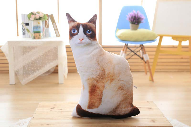 1pcs 50cm Soft 3D Simulation Stuffed Cat Toys Double-side Seat Sofa Pillow Cushion Cute Plush Animal Cat Dolls Toys Gifts (8)