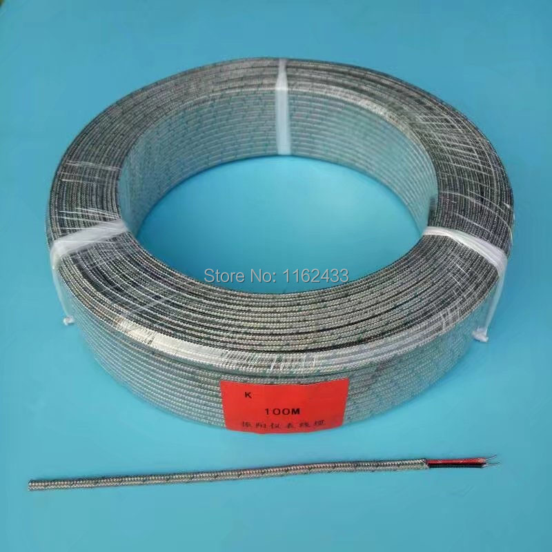 FTARE02 100m K J thermocouple PT100 RTD extension wire compensation ...