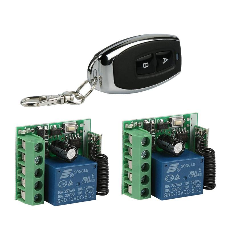 433MHz RF 2 Channel Remote Control Transmitter Learning Code 1527/EV1527 And 1CH DC 12 V Relay Receiver Module DIY Switch S3