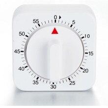 60 минут кухонный таймер отсчет вниз Будильник Напоминание белый квадратный механический таймер для кухни