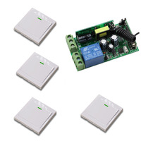 AC 85 250V Remote Control Switch 1CH Wide Voltage Relay Receiver Wall Pannel Remote Transmitter Stairway