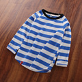 The boy in the Striped long sleeved T-shirt 2016 new spring clothes children baby shirt jacket G1045