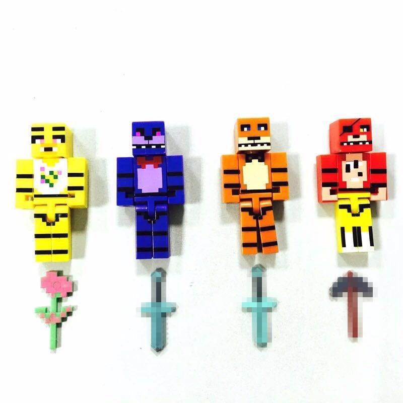 Minecraft Toys Figures 4pcs/set Five Nights At Freddys 4