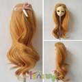 Hot item princess style golden blond kinky curly wate wavy bjd doll wigs 1/3 1/4 1/6 for choice