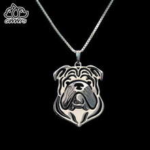 English British bulldog Necklaces pendants for women men girls silver/gold color long chain pet dog pendant necklace jewelry